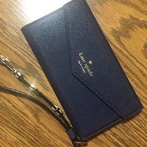 Kate Spade Folio Wallet Phone Case Royal Blue